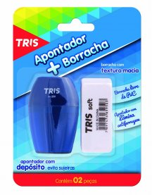 Imagem - Kit Apontador C/ Depósito+ Borracha