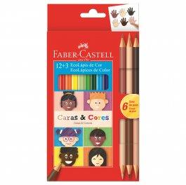 Imagem - Kit Escolar Caras e Cores 12+3