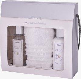 Imagem - Kit Toalha+ Desodorante Corporal + Loção Hidratante 120ML + Caixa Sacola