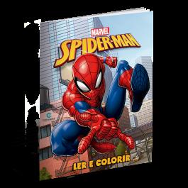 Imagem - Livros Disney Ler e Colorir Homem Aranha