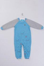 Imagem - Macacão Bebê Moleton Azul