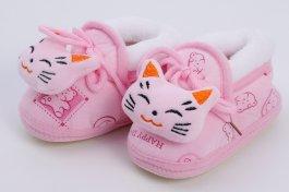 Imagem - Pantufa Bebê Menina Gato