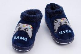 Imagem - Tênis Pantufa Infantil Menino Azul Calce Fácil Geek Game Over