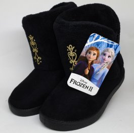 Imagem - Pantufa Infantil Frozen Preta