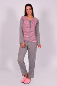 Imagem - Pijama Feminino Inverno Com Silk