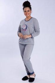 Imagem - Pijama Feminino Longo Com Silk Lua
