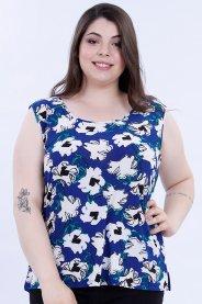 Imagem - Regata Liganete Feminina Plus Size Estampado Floral