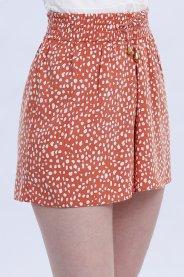 Imagem - Shorts Feminino Com Cordão Na Cintura  Estampado