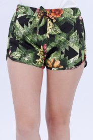Imagem - Shorts Moletinho Feminina Estampado Floral