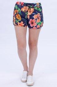 Imagem - Shorts Moletinho Feminino Estampado Floral