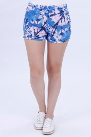 Imagem - Shorts Moletinho Feminino Estampado Tie Dye