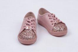 Imagem - Tênis Bebe Infantil Menina Molekinha Casual Com Detalhe Em Glitter