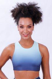 Imagem - Top Poliamida Feminino Sublimado Azul Marinho Dupla Face