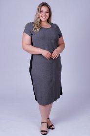 Imagem - Vestido Feminino Ribana Canelada Plus Size