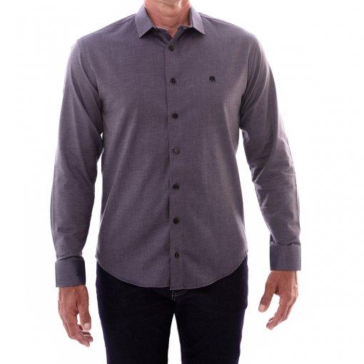 Camisa Slim Manga Longa