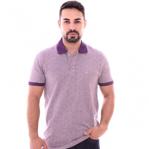 Camiseta Gola Polo Roxa Furta Cor