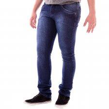 Imagem - Calça Jeans Slim Délavé Azul cód: 130