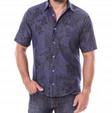Imagem - Camisa Jeans Slim Manga Curta Blue Estamapado cód: 002