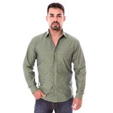 Imagem - Camisa Slim Manga Longa Verde cód: 042