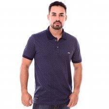 Imagem - Camiseta Gola Polo Azul Marinho Estampado cód: 106