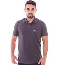 Imagem - Camiseta Gola Polo Cinza cód: 082