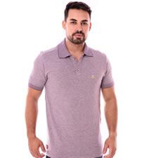 Imagem - Camiseta Gola Polo Roxo Estampado cód: 105