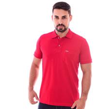 Imagem - Camiseta Gola Polo Vermelha cód: 079