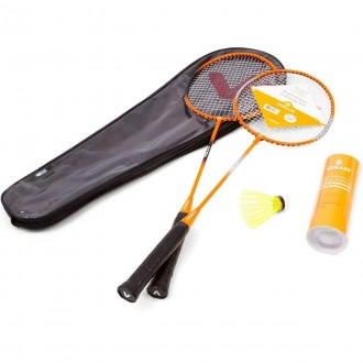 Imagem - KIT BADMINTON VOLLO 2 RAQ 3 PETECAS