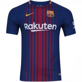 Imagem - Camisa Nike Barcelona Home Infantil 17/18 Personalizada - 847387-456-174-163