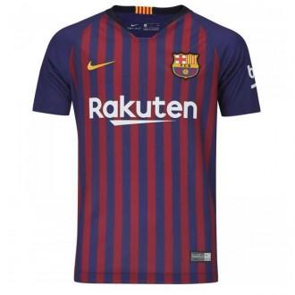 Imagem - Camisa Nike Barcelona Home Infantil 18/19 Personalizada