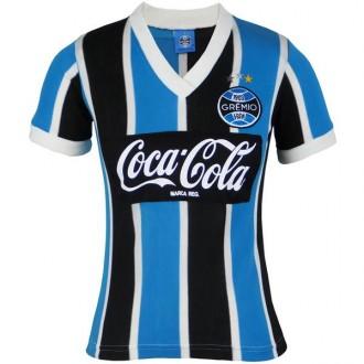 Imagem - Camisa Gremio Feminina Retro Coca-Cola 1989
