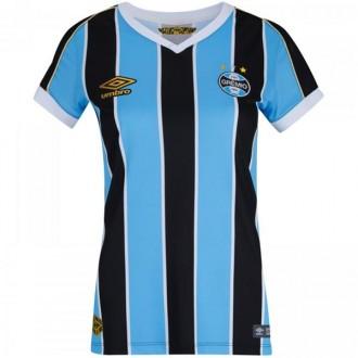 Imagem - Camisa Umbro Gremio Feminina Oficial 1 2019 - 837901-426-741