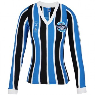 Imagem - Camisa Gremio Feminina Retro Libertadores 83 M/L - G-470F-318-12