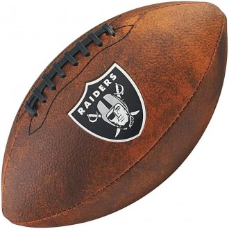 Imagem - Bola Wilson Fut Americano Throwback Team Logo Ok Raiders - WTF1539XBOA-301-186