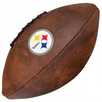 Imagem - Bola Wilson Fut Americano Throwback Team Logo Pt Steelers - WTF1539XBPT-301-186
