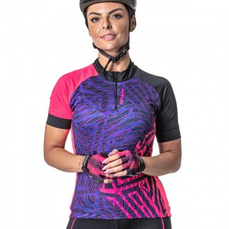 Imagem - Camisa Poker Feminina Ciclista Ziper Parcial Root