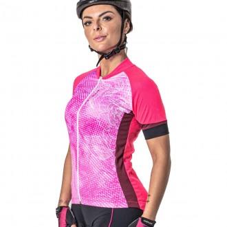 Imagem - Camisa Poker Feminina Ciclista Ziper Total Jewel