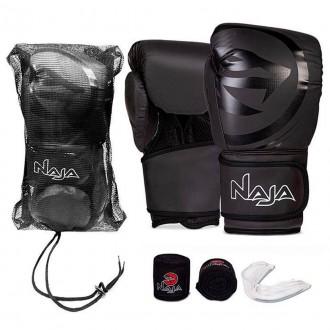 Imagem - Kit Naja Luva Boxe + Bangagem + Protetorbucal + Bag