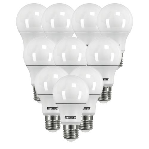Kit 10 Lâmpadas - LED 6500K 4,9w TKL35 100-240v E-27 Taschibra