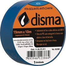 Imagem - Fita Isolante 19mm x 10m Azul Disma - 3456