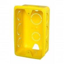 Imagem - Caixinha para Tomadas 4x2 Amarela Kit 24 Peças Krona - 4740