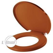 Imagem - Assento Sanitário Almofadado Caramelo - Herc - 7759