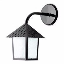 Imagem - Luminária Arandela Colonial de Parede Preta em Aço e Vidro - Blumenau - 4638