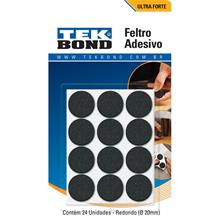 Imagem - Feltro Redondo 20mm Preto Cartela 24 Unidades Tekbond - 8599