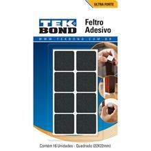Imagem - Feltro Quadrado 22mm Preto Cartela 16 Unidades Tekbond - 8601