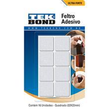 Imagem - Feltro Quadrado 22mm Branco Cartela 16 Unidades Tekbond - 9184