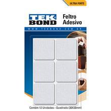 Imagem - Feltro Quadrado 30mm Branco Cartela  12 Unidades Tekbond - 9185