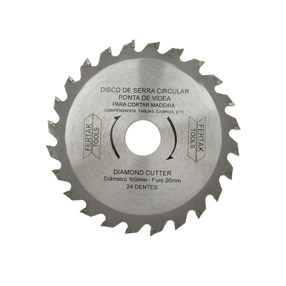 Imagem - Lâmina de Serra Circular 7.1/4'' 24D x 180mm x 20mm Fertak - 8903