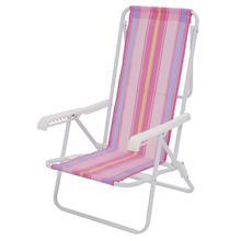 Imagem - Cadeira Praia de Aço Reclinável 8 Posições Mor - 5576