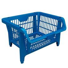 Imagem - Cesto Plástico Expositor Prático Azul - Combo 10 Peças - 9410-10